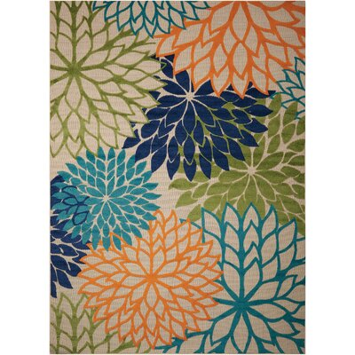 Nathalie Cream Indoor/Outdoor Area Rug Rug Size: Rectangle 96 x 13