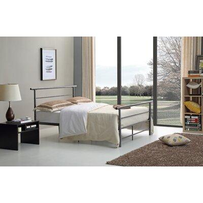 Carlton Platform Bed Size: Twin, Color: Black / Silver