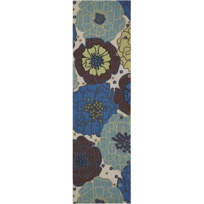 Avis Blue Indoor/Outdoor Area Rug Rug Size: Runner 23 x 8
