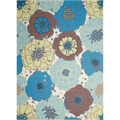 Avis Blue Indoor/Outdoor Area Rug Rug Size: Rectangle 53 x 75