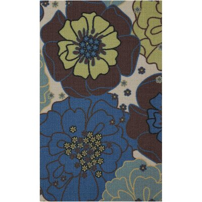 Avis Blue Indoor/Outdoor Area Rug Rug Size: Rectangle 23 x 39