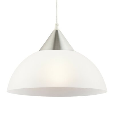 Acosta 11 Plug-In White 1-Light Hanging Bowl Pendant Shade Color: White