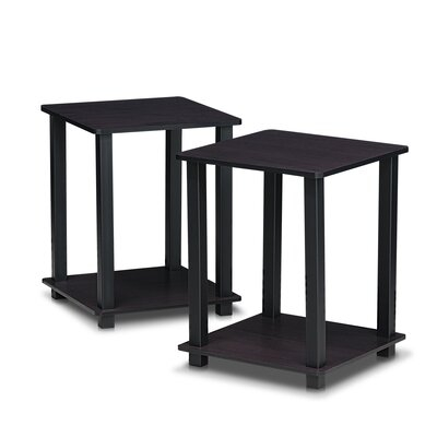 Annie End Table Set Color: Dark Walnut