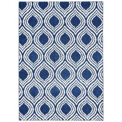 Nannie Blue Area Rug Rug Size: 76 x 96