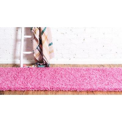 Madison Pink Area Rug Rug Size: Runner 26 x 10, Color: Pink