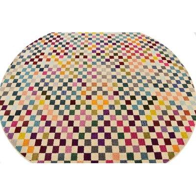 Chenango Yellow Area Rug Rug Size: Round 8