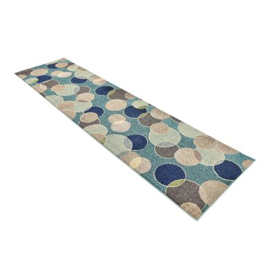 Chenango Rectangle Blue Area Rug Rug Size: Runner 27 x 10