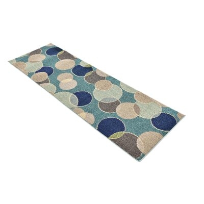 Chenango Rectangle Blue Area Rug Rug Size: Runner 22 x 67