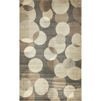 Chenango Rectangle Gray Area Rug Rug Size: Rectangle 106 x 165