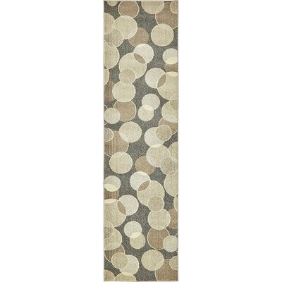 Chenango Rectangle Gray Area Rug Rug Size: Runner 27 x 10