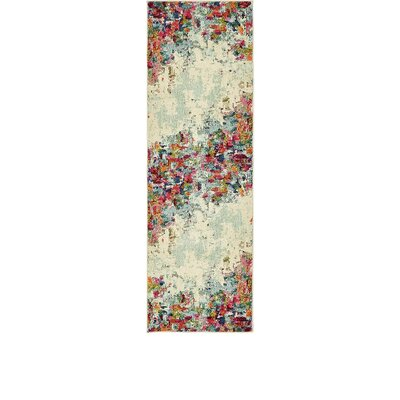 Chenango Rectangle Cream Area Rug Rug Size: Runner 22 x 67