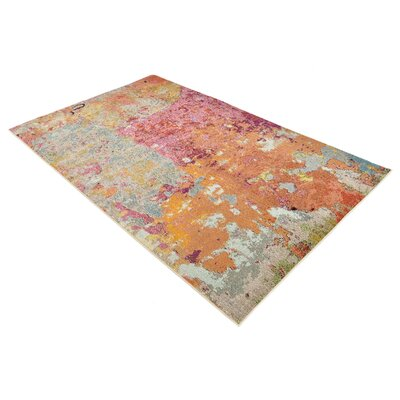Chenango Rectangle Orange/Pink Area Rug Rug Size: Rectangle 8 x 10
