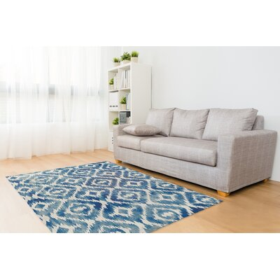 Laplant Blue Area Rug Rug Size: 5 x 7
