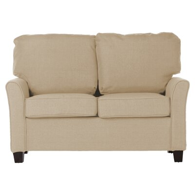 Alexis Loveseat Upholstery: Wheat