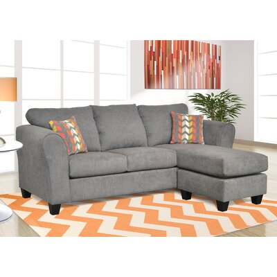 Dominey Sectional Upholstery: Capstone Steel/ Zeppelin Sorbet