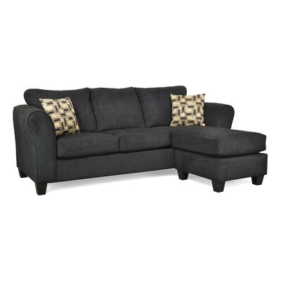Dominey Sectional Upholstery: Chofa Due Black / Eider Onyx