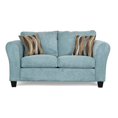 Fredericktown Loveseat Upholstery: Wrigley Teal / Casino Teal