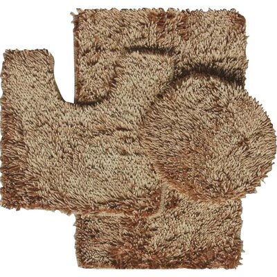 Shauna 3 Piece Bath Rug Set Color: Gold