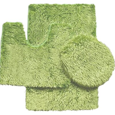 Shauna 3 Piece Bath Rug Set Color: Lime Green