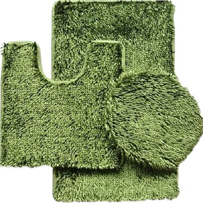 Shauna 3 Piece Bath Rug Set Color: Sage Green