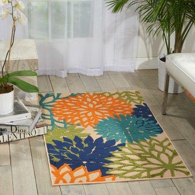 Nathalie Cream Indoor/Outdoor Area Rug Rug Size: Rectangle 28 x 4