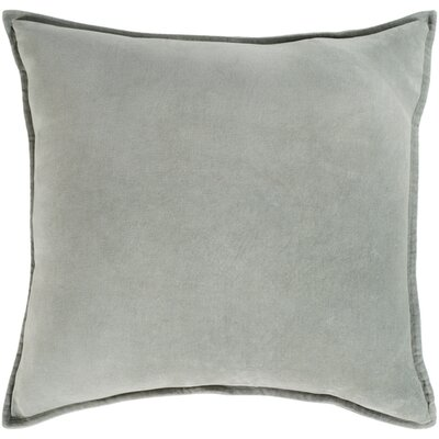 Carey Velvet Pillow Cover Size: 18 H x 18 W x 0.25 D, Color: Seafoam