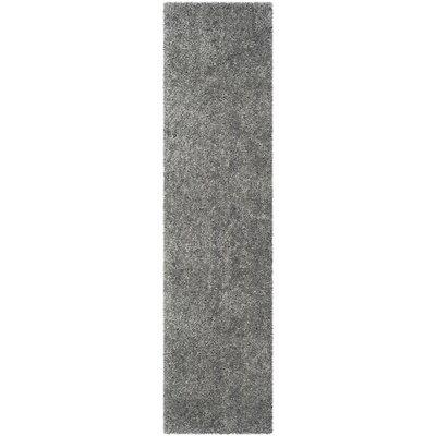 Bellar Shag Silver Solid Rug Rug Size: Runner 23 x 9