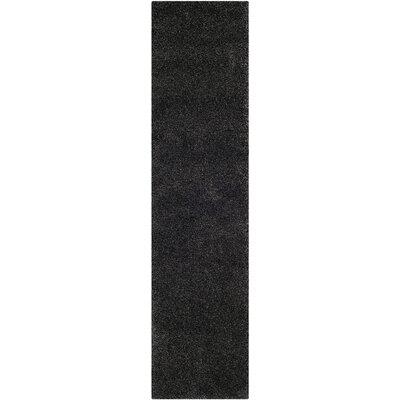 Buster Dark Gray Area Rug Rug Size: Runner 2 x 8
