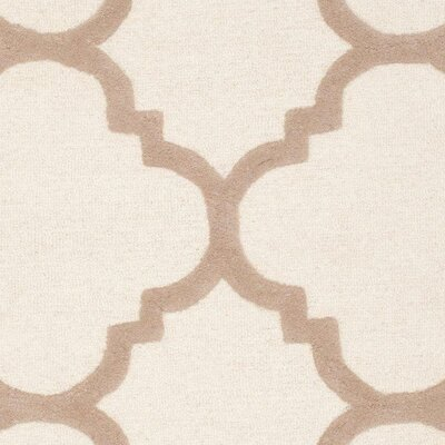 Charlenne Hand-Tufted Wool Ivory/Beige Area Rug Rug Size: Rectangle 4 x 6
