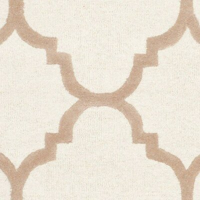 Charlenne Hand-Tufted Wool Ivory/Beige Area Rug Rug Size: Rectangle 6 x 9