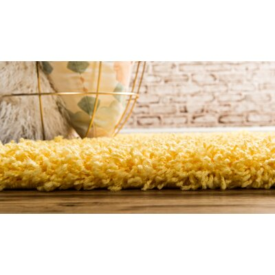 Madison Basic Dark Yellow Area Rug Rug Size: Runner 22 x 65, Color: Yellow
