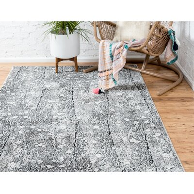 Maryrose Dark Gray Tibetan Area Rug Rug Size: Rectangle 9 x 12