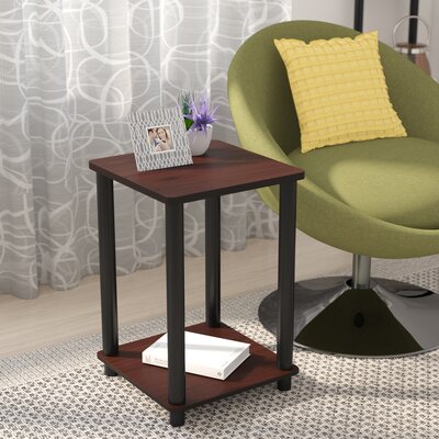 Alison End Table Color: Dark Cherry