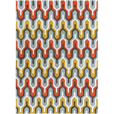 Elisa Orange/Red Area Rug Rug Size: Rectangle 8 x 11