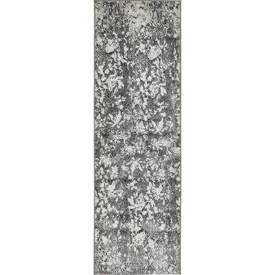 Maryrose Dark Gray Area Rug Rug Size: Runner 2 x 67