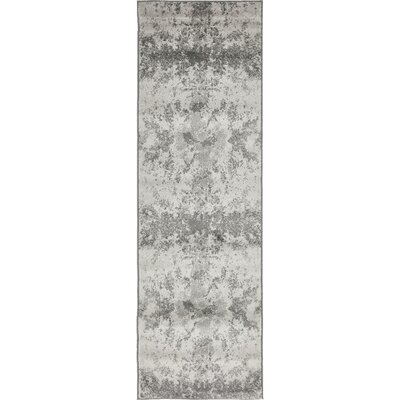 Maryrose Gray Area Rug Rug Size: Runner 2 x 67