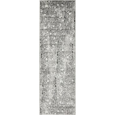 Maryrose Dark Gray Tibetan Area Rug Rug Size: Runner 2 x 13