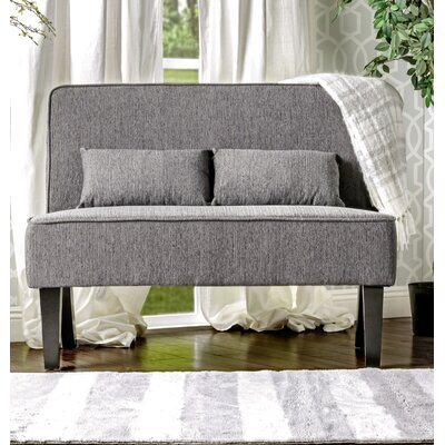 Joyce Contemporary Loveseat Upholstery: Gray