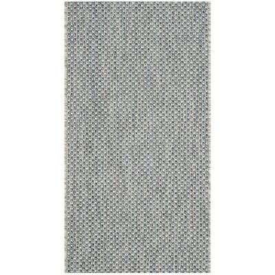 Bolen Gray / Navy Indoor/Outdoor Area Rug Rug Size: Rectangle 2 x 37