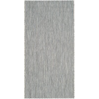 Bolen Gray / Navy Indoor/Outdoor Area Rug Rug Size: Rectangle 27 x 5