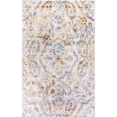Chipman Ivory/Red/Blue Indoor Area Rug Rug Size: Rectangle 53 x 77