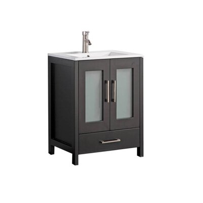 Larrick 24 Single Bathroom Vanity Base Finish: Espresso