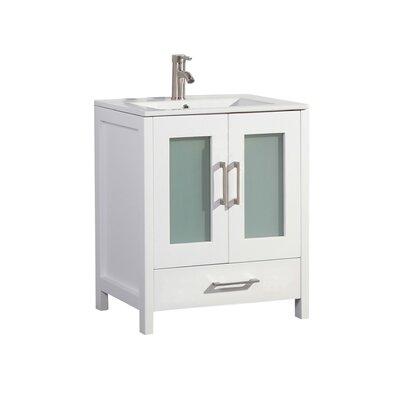 Larrick 30 Single Bathroom Vanity Base Finish: White
