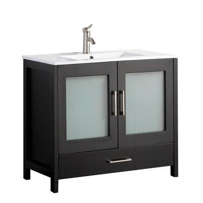 Larrick 36 Single Bathroom Vanity Base Finish: Espresso