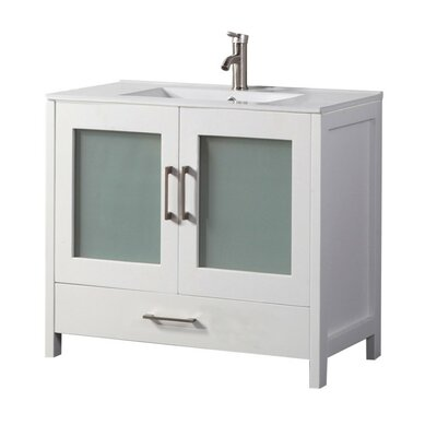 Larrick 48 Single Bathroom Vanity Base Finish: White