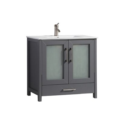 Larrick 36 Single Bathroom Vanity Base Finish: Gray