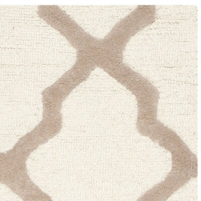 Charlenne Hand-Tufted Wool Ivory/Beige Area Rug Rug Size: Rectangle 2 x 3