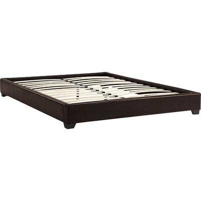 Alex Upholstered Platform Bed Size: European King, Color: Brown