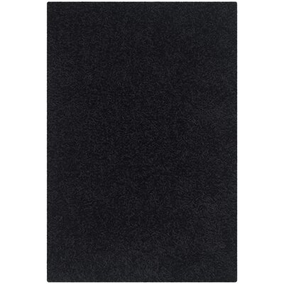 Holliday Black Area Rug Rug Size: Rectangle 2 x 3