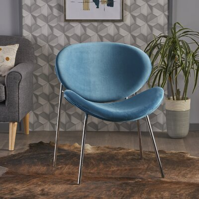 Erisa Side Chair Upholstery: Blue